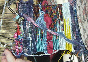 Saori weaving workshops and classes