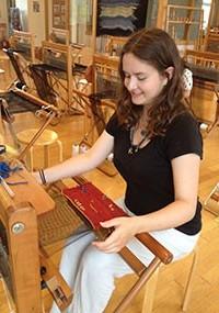 Saori creative weaving on WX60 looms
