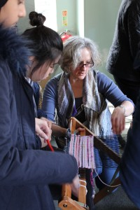 Mobile Saori weaving studio