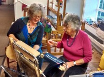 Saori weaving demonstrations at Whitchurch Silkmill