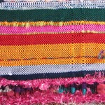 Collaborative weaving sample woven by students from BCT
